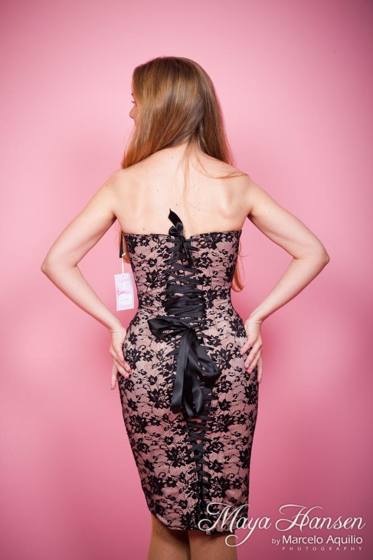 Collette Velarde in Maya Hansen lace dress