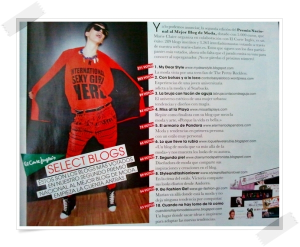 premio blog moda marie claire 2011 2