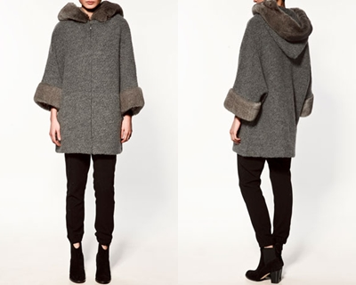 Chaquetón Zara 2012 mohair