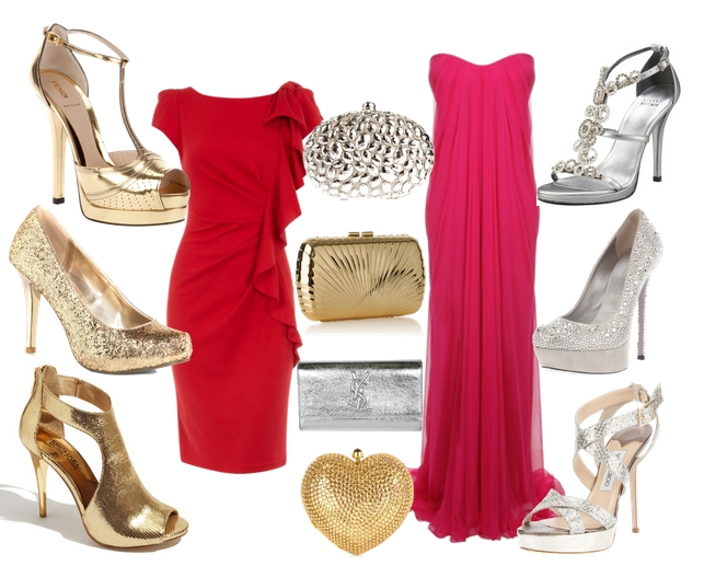 Vestidos rojos de fiesta 2011
