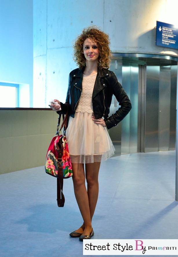 Street-Style-by-Primeriti-Vestido-de-tul-cazadora-de-cuero