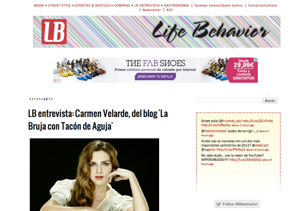 Carmen Velarde en Life Behavior