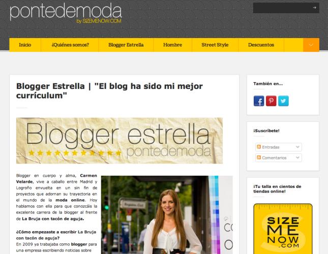 Entrevista en Ponte de moda