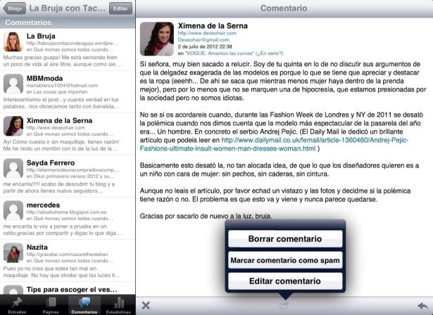 Wordpress para iPad