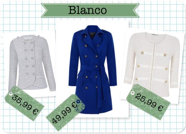 Abrigos chaquetas Blanco