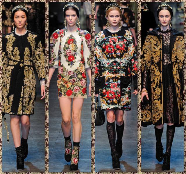 Dolce Gabbana otoño invierno 2012 2013