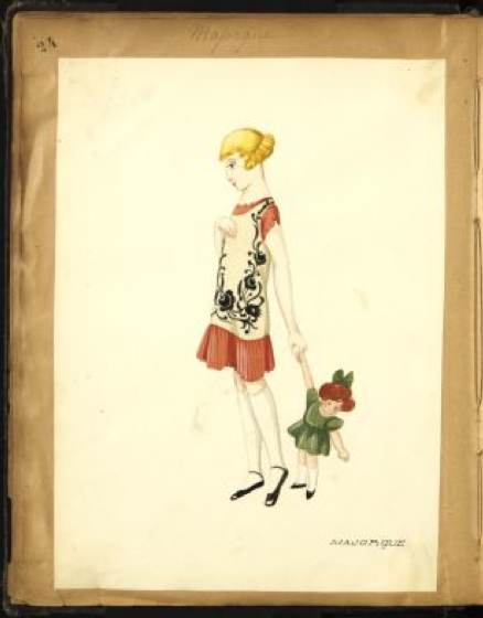 Bocetos Lanvin moda infantil 02