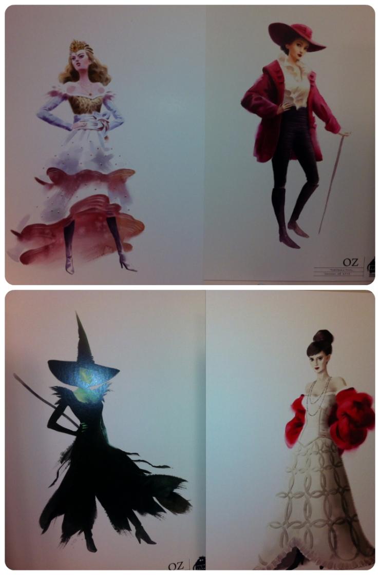 Bocetos vestuario Mundo de Oz