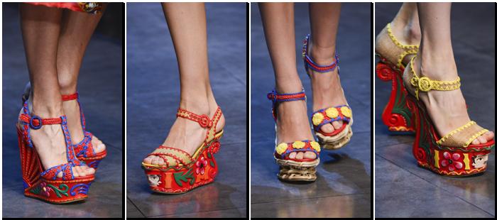 Zapatos Dolce Gabbana primavera verano 2013