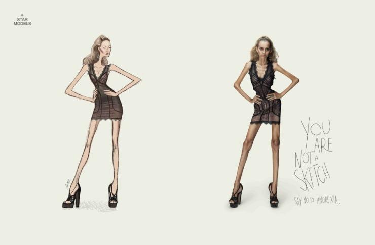 No eres un dibujo No a la anorexia