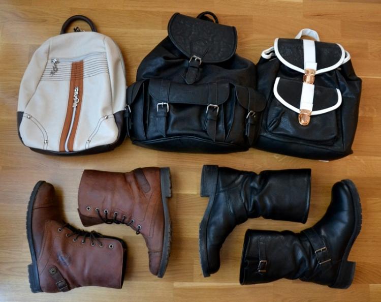 Mis botas y mochilas