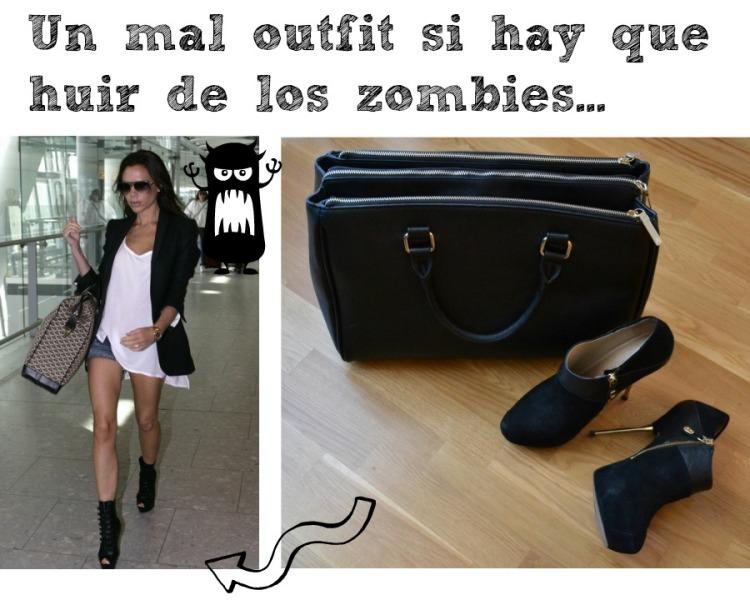 Un mal outfit para huir de los zombies