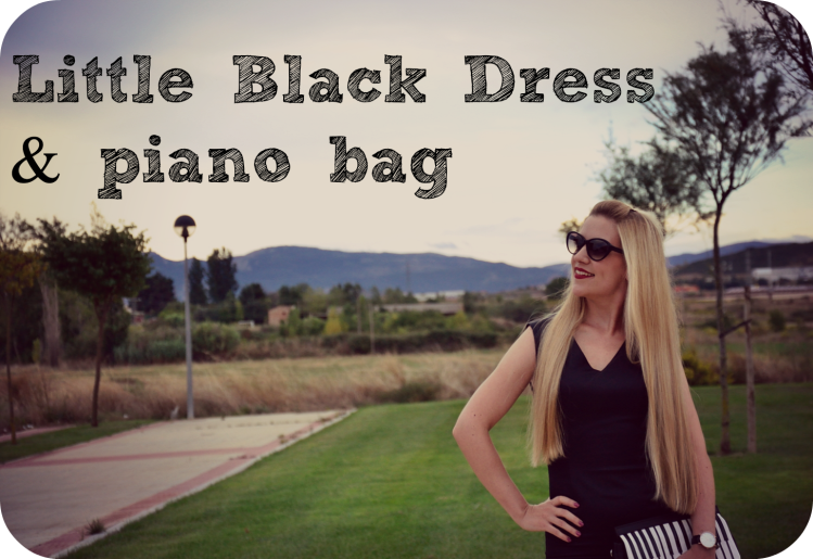La Bruja little black dress piano bag