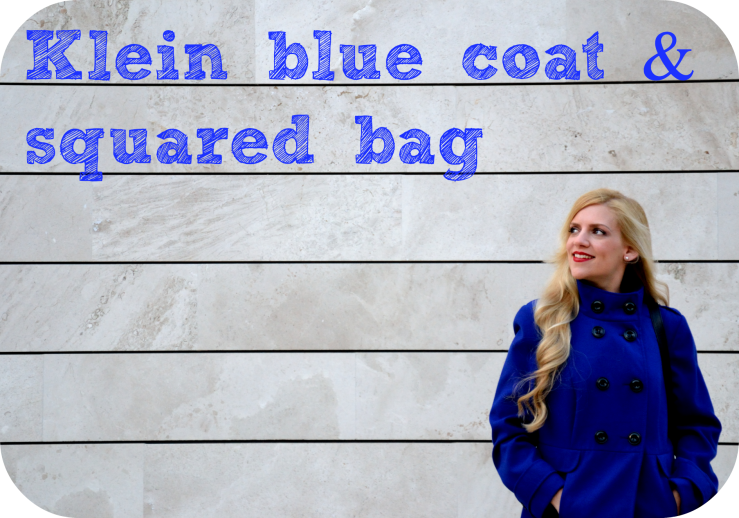 Klein blue coat