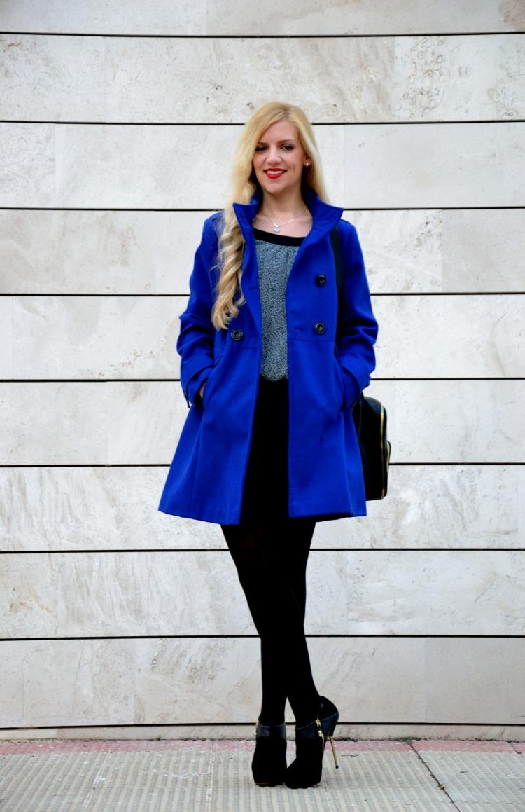Klein blue coat