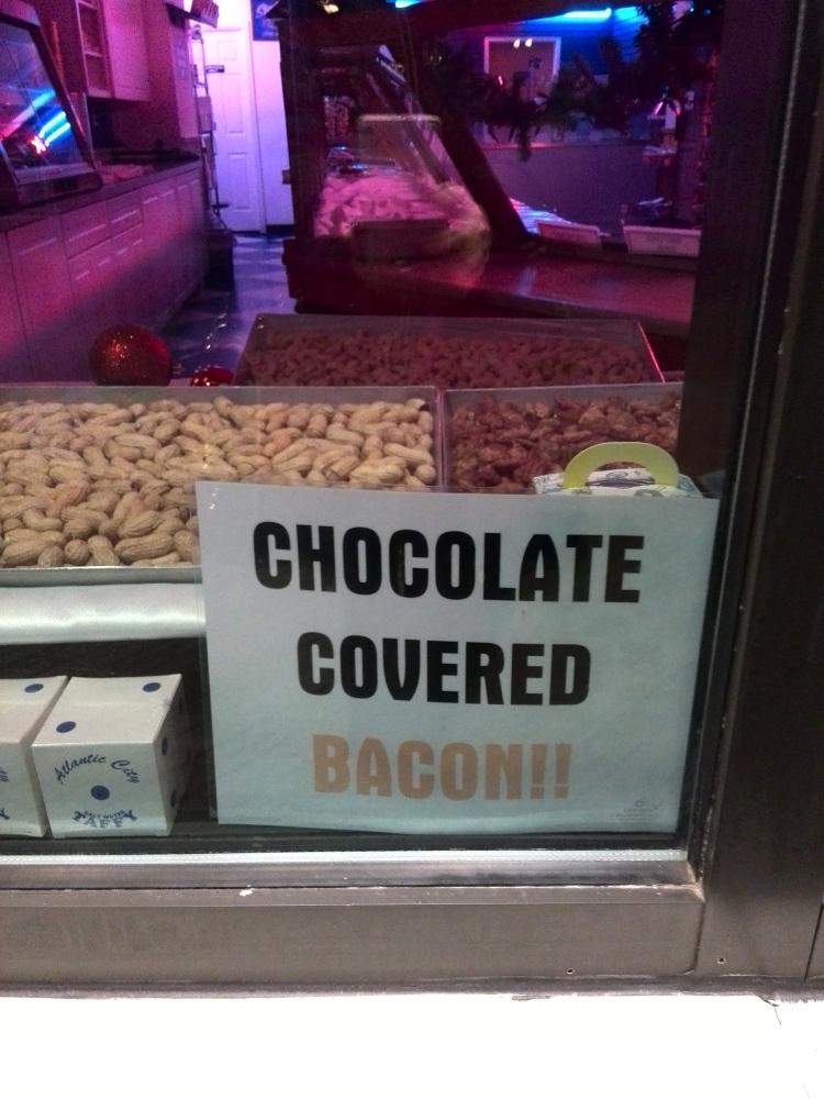 Bacon cubierto de chocolate