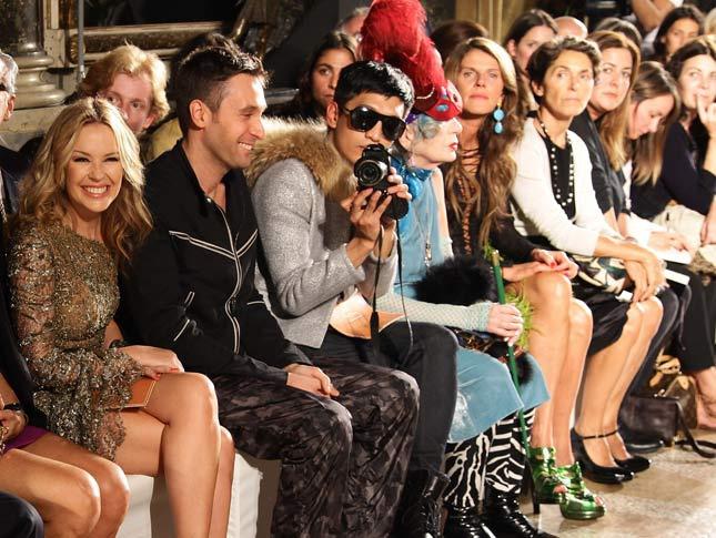 Bloggers en el front row