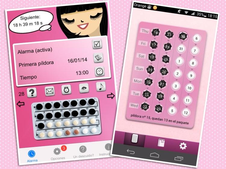 iPhone Android apps para no olvidar la pildora