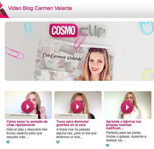 Videoblog de belleza de Carmen Velarde en Cosmo