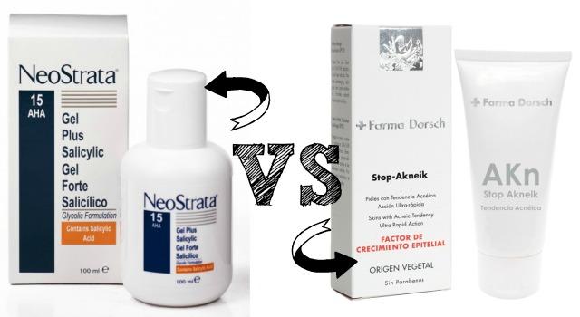 Gel Forte Salicílico de Neostrata vs Stop Akneik de Farma Dorsch