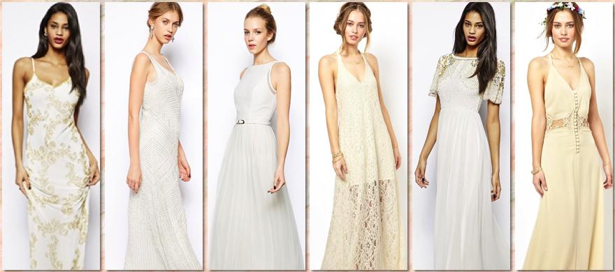 Vestidos largos de novia para presupuestos low cost destacada