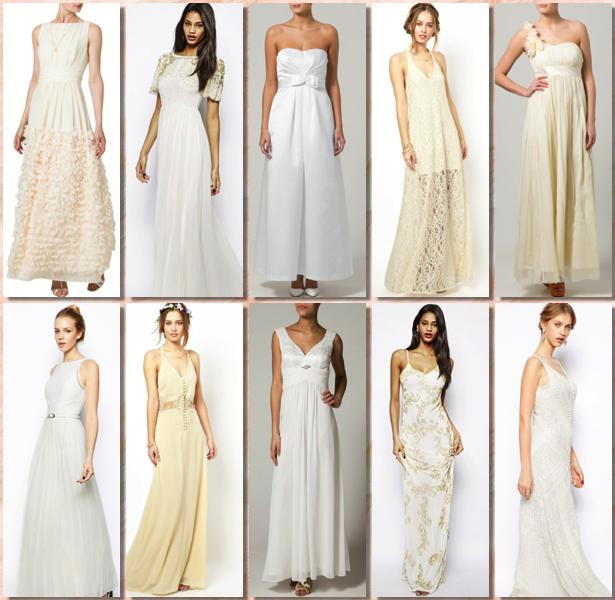 Vestidos largos de novia para presupuestos low cost