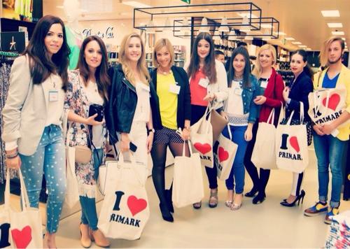 En la inauguración de Primark con otros bloggers de moda de Logroño