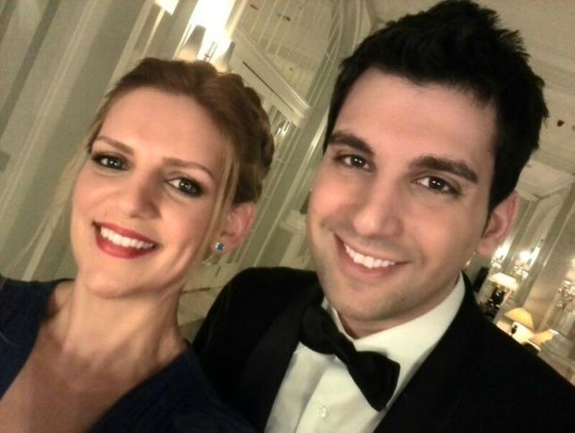 Edu y yo en la entrega de los Premios Dedales de Oro 2014