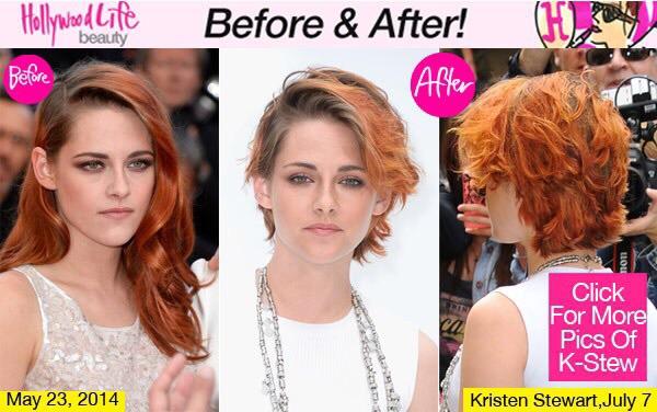 Cambios de look Kristen Stewart pelirroja