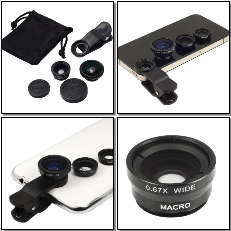Juego de lentes intercambiables para smartphones