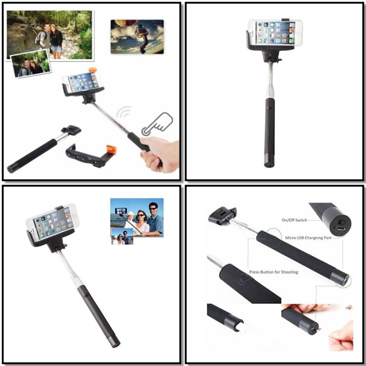 Stick telescopico para selfies con mando a distancia