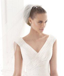 Vestido Mayda Pronovias Fashion 2015 escote cruzado