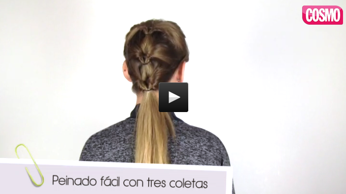 Ver el vídeo Peinado fácil con tres coletas en Cosmo