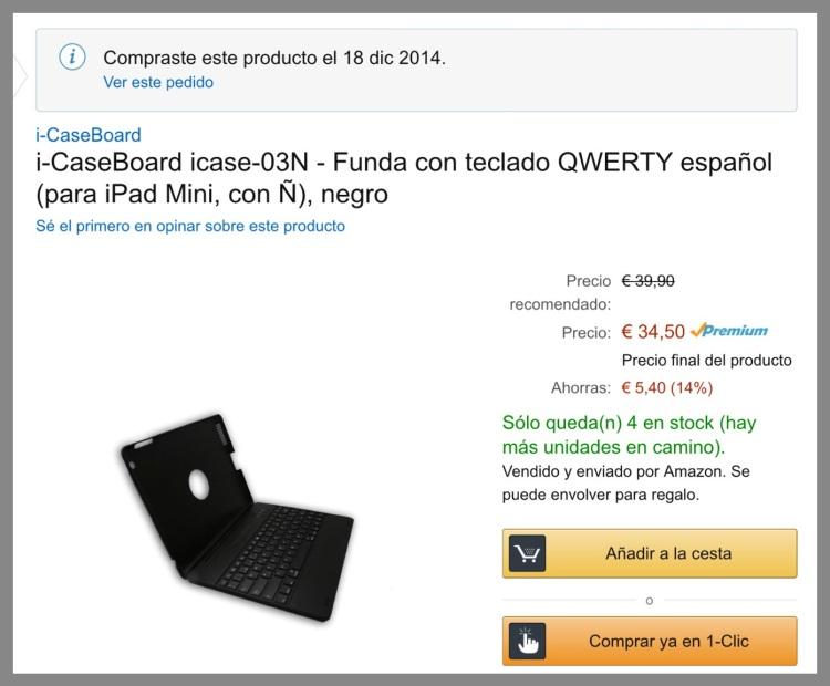 Mala opinión producto Amazon