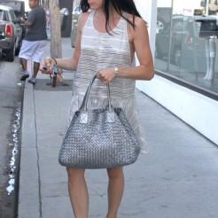 Street style bolsos metalizados