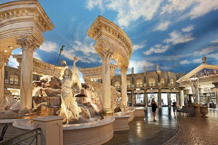 Interior del Hotel Caesars en Las Vegas