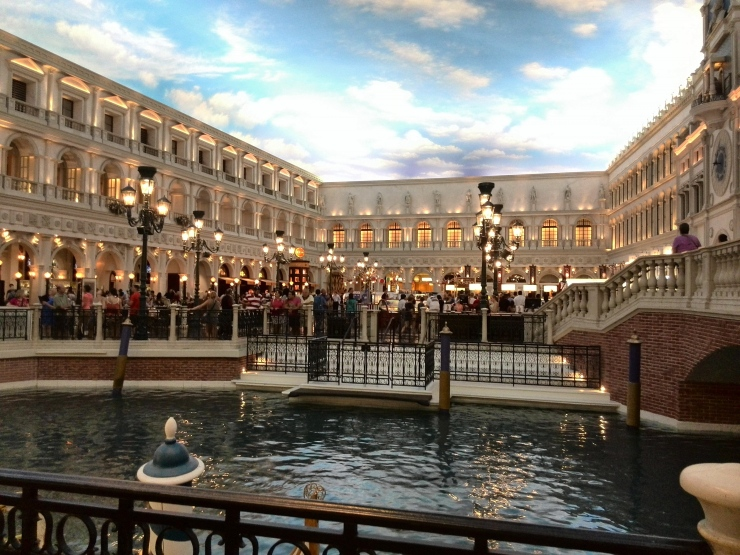Interior del Hotel The Venetian en Las Vegas