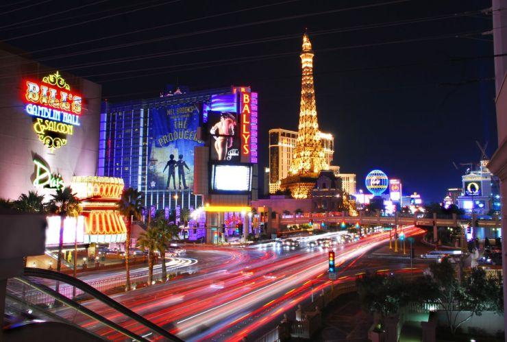 Las Vegas vista nocturna del Strip