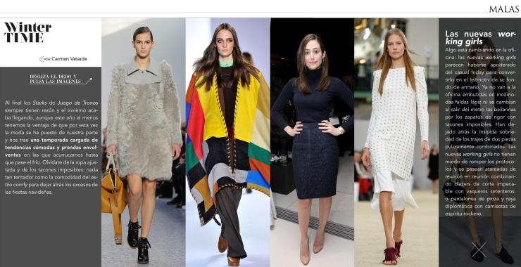 Moda en Malas febrero
