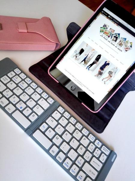 Teclado español plegable para iPad y tablets de Salvador Bachiller