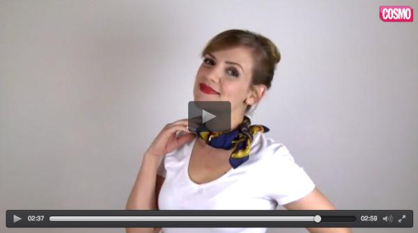 5 formas faciles y chic de llevar un pañuelo