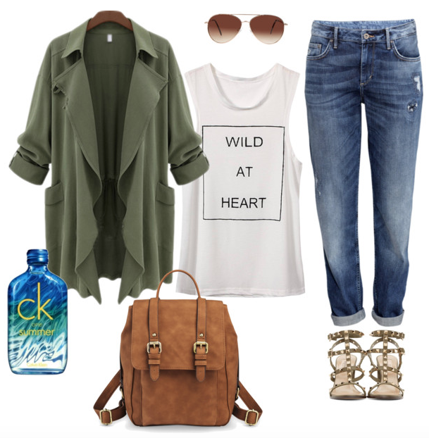 Look Army Chic - CK One Summer 2015