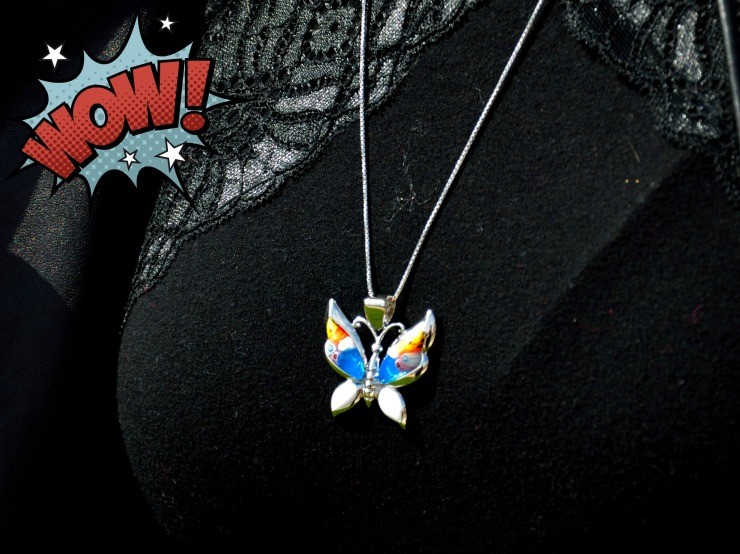 Mariposa de cristal de Murano
