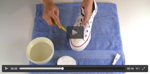 Ver vídeo - Limpiar Converse y sneakers