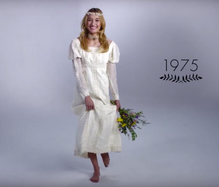 Vestido de novia años 70