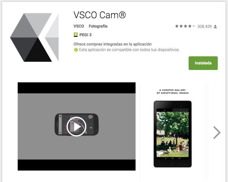 VSCOcam detalle