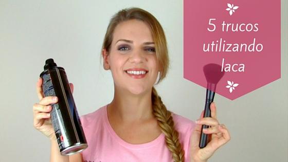 5 trucos usando laca para el pelo