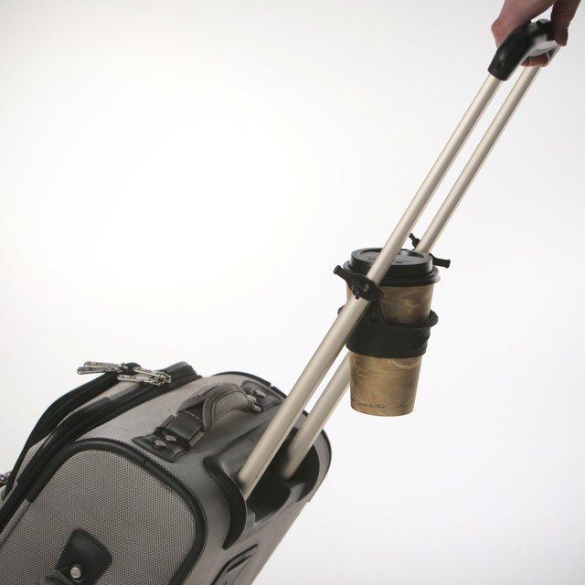Rolling Luggage Drink Holder