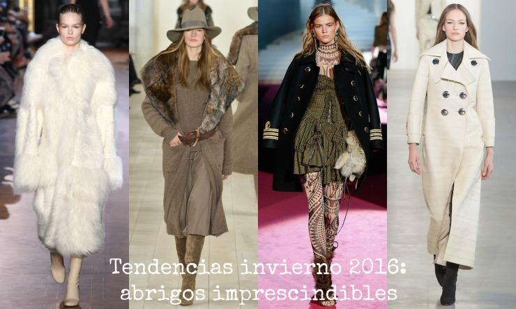 Tendencias abrigos invierno 2016