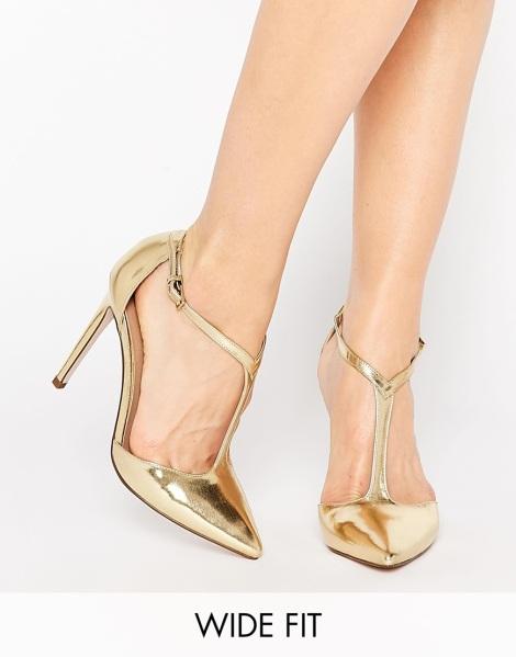 Sandalias doradas de ASOS